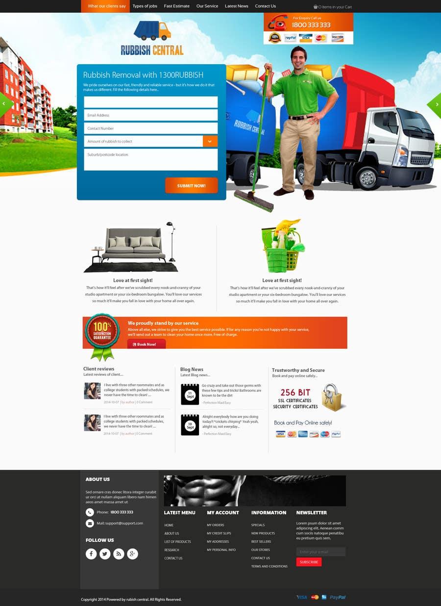 Bài tham dự cuộc thi #21 cho Design a Website Mockup for a rubbish removal aggregation website