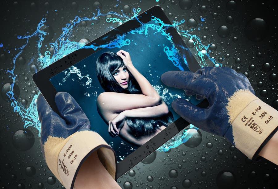 #2 for Ich benötige ein grafisches Design for using Tablet-PC with gloves by Azavedo