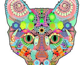 marcokap tarafından I need some Graphic Design for 60's based artwork - Cat's head için no 16