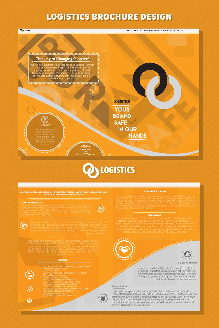 Entry #36 by artisie for Design a Brochure for Logistics Company