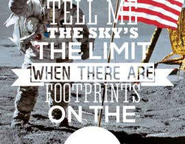 #56 untuk Creative Design for Inspirational Quote! (Footsteps on the moon) oleh had1st