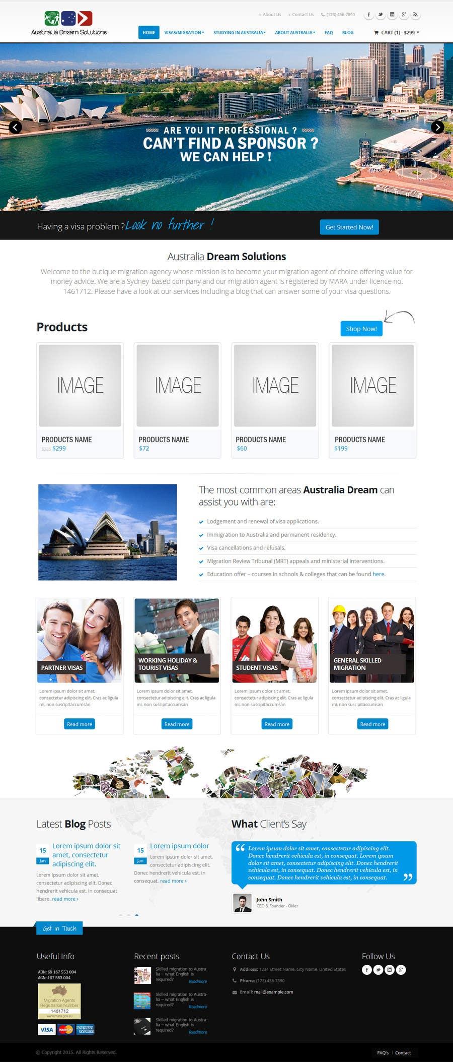 Kilpailutyö #6 kilpailussa Home page redesign by making it sales-focused (legal services).