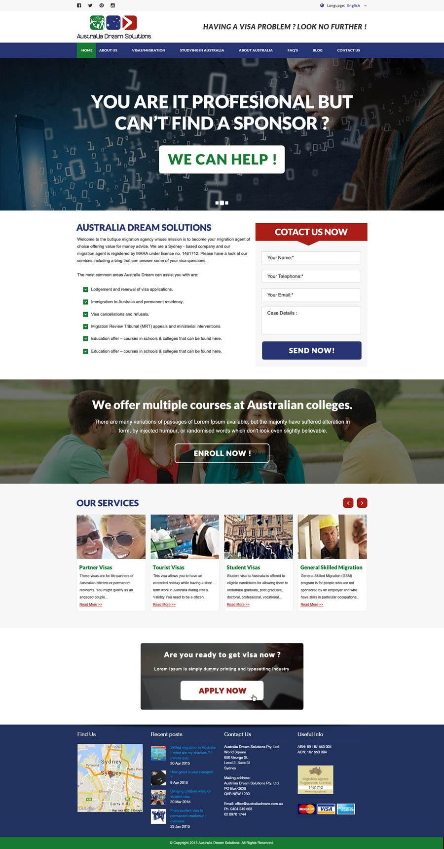 Kilpailutyö #11 kilpailussa Home page redesign by making it sales-focused (legal services).