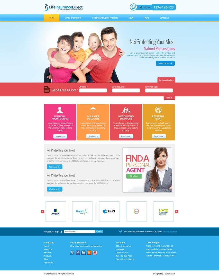 #25 for Design a Website Mockup by superlayout