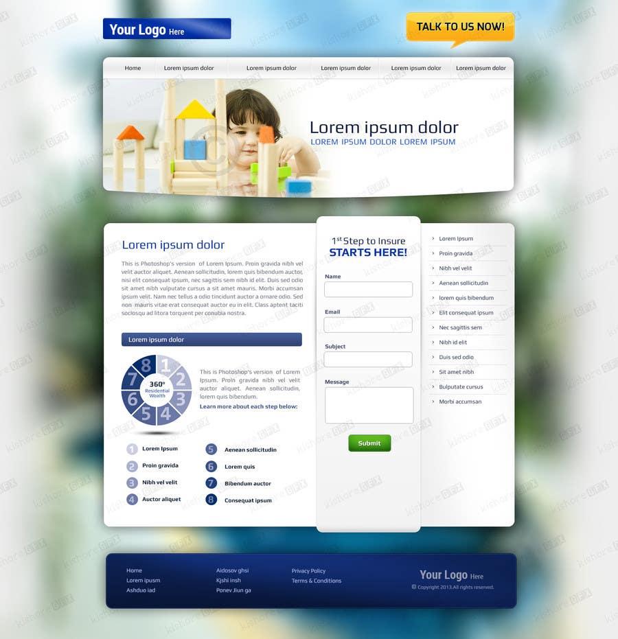 #1 for Design a Website Mockup by kishoregfx