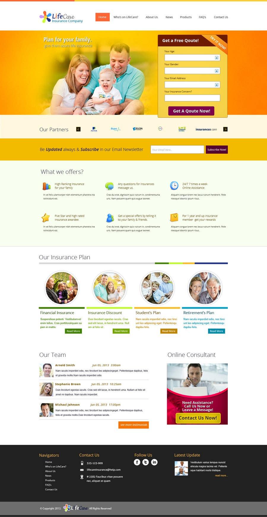 #32 for Design a Website Mockup by chiqueylim