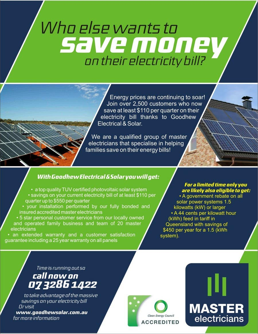 Entry #34 by realdreemz for Advertisement Design for Goodhew Solar ...