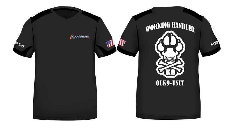Penyertaan Peraduan #22 untuk Design a T-Shirt for Off Leash K9 Training