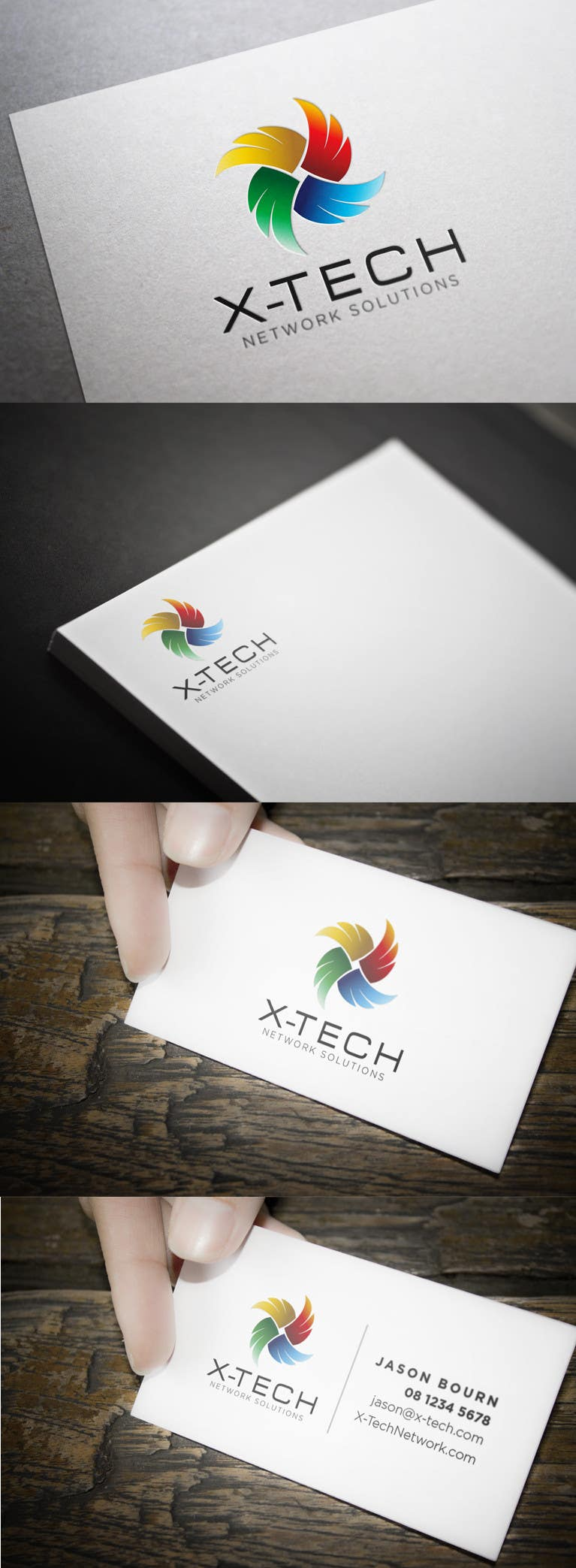 #65 for Develop a Corporate Identity for X-TechNetwork.com (Logo, Business Card & Letterhead) by toybox29