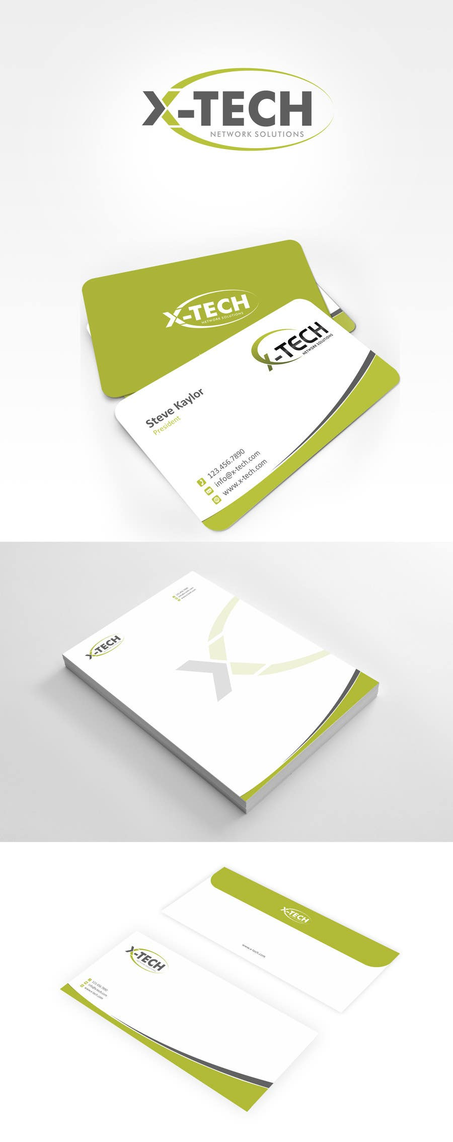 #40 for Develop a Corporate Identity for X-TechNetwork.com (Logo, Business Card & Letterhead) by ezesol