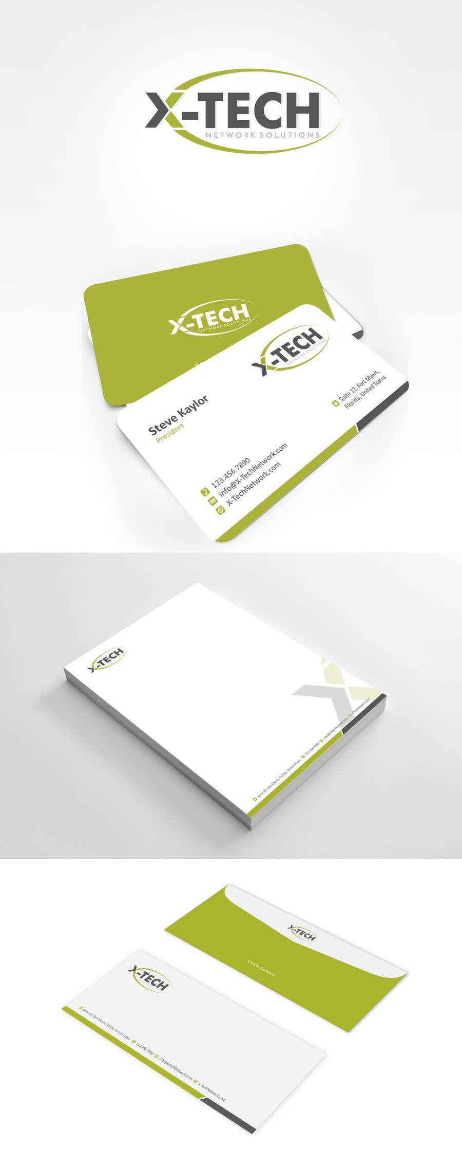 #46 for Develop a Corporate Identity for X-TechNetwork.com (Logo, Business Card & Letterhead) by ezesol
