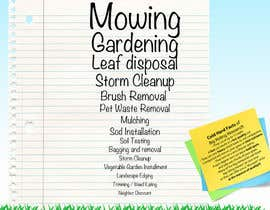 #6 para Design a Flyer for Quiet Corner Landscapers LLC por Louisepeake
