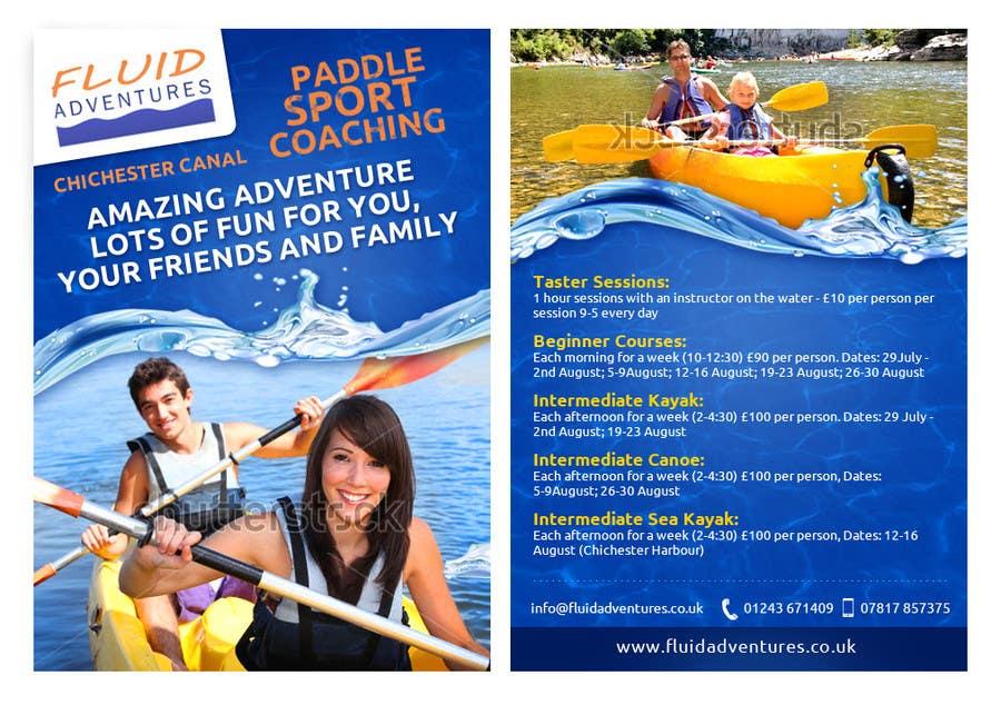 Konkurrenceindlæg #25 for Design a flyer for Summer Holiday Kayaking Courses