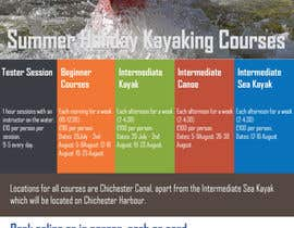nº 23 pour Design a flyer for Summer Holiday Kayaking Courses par rolivenext