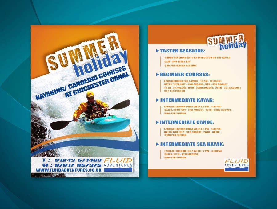 Konkurrenceindlæg #17 for Design a flyer for Summer Holiday Kayaking Courses