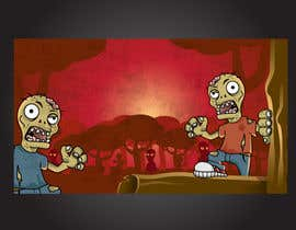#6 for Design & Illustration - 2D Zombie Game Main Screen by Bebolum