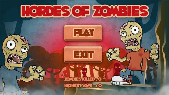 Konkurrenceindlæg #15 for Design & Illustration - 2D Zombie Game Main Screen