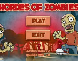 #15 for Design & Illustration - 2D Zombie Game Main Screen by Bebolum