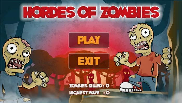 Konkurrenceindlæg #16 for Design & Illustration - 2D Zombie Game Main Screen