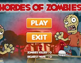 #17 for Design & Illustration - 2D Zombie Game Main Screen by Bebolum