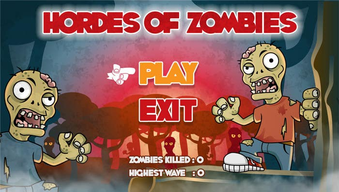 Konkurrenceindlæg #18 for Design & Illustration - 2D Zombie Game Main Screen