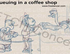 #35 para Cartoon animals queuing in a coffee shop por HelberSoares