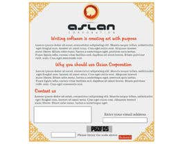 #8 pentru Graphic Design for Aslan Corporation de către joka232