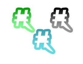 #32 untuk Design a chat bubble that look like a hashtag oleh ToDo2ontheroad