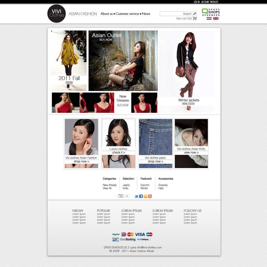 Contest Entry #32 for Website Design for VIVI Clothes
