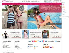 #55 for Website Design for VIVI Clothes by darila