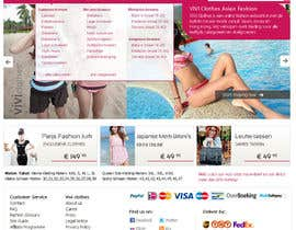 nº 58 pour Website Design for VIVI Clothes par darila