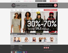 #40 para Website Design for VIVI Clothes por santanusingha