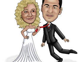 #38 para Cartoon wedding couple por cassiajc
