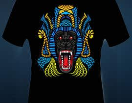 #28 for Design an Animal for a Black T-Shirt af prasnjitsaha