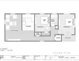 #1 para Create a 3d floor plan of 2 bedroom apt por SDBcIndia