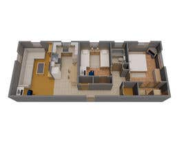 #4 para Create a 3d floor plan of 2 bedroom apt por markoculibrk