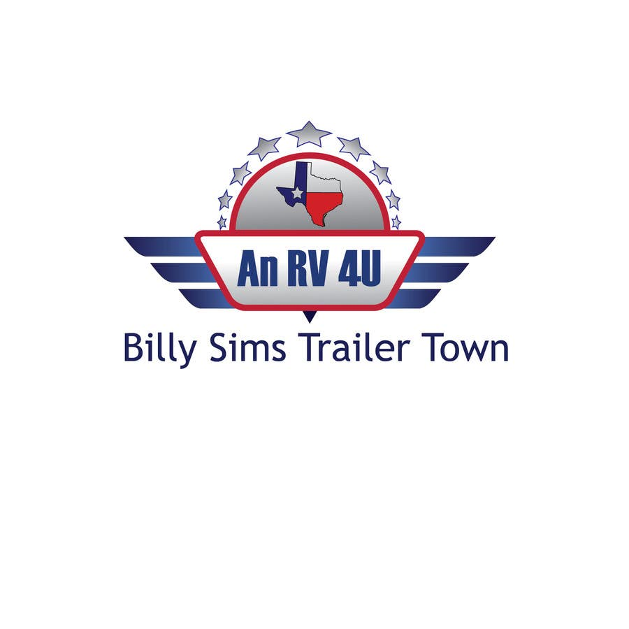 "Konkurrenceindlæg #4 for Design a Logo for ""An RV 4U"" Billy Sims Trailer Town"
