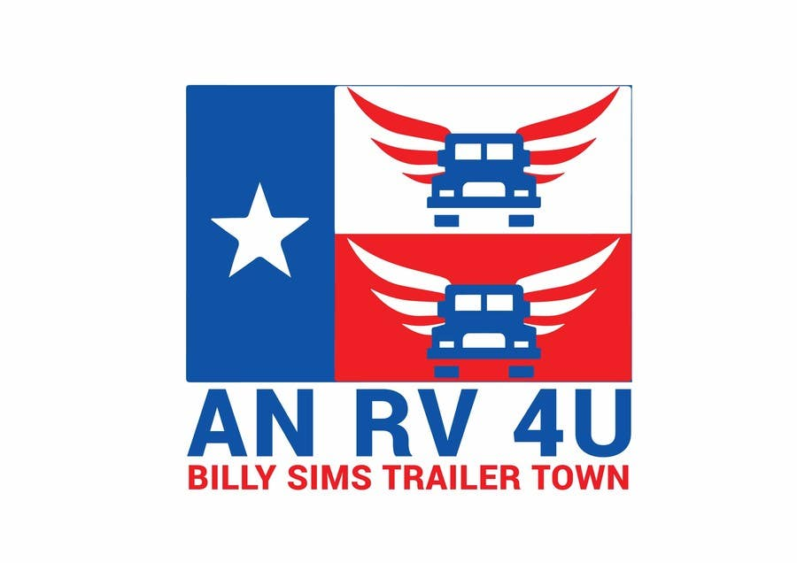 "Konkurrenceindlæg #10 for Design a Logo for ""An RV 4U"" Billy Sims Trailer Town"