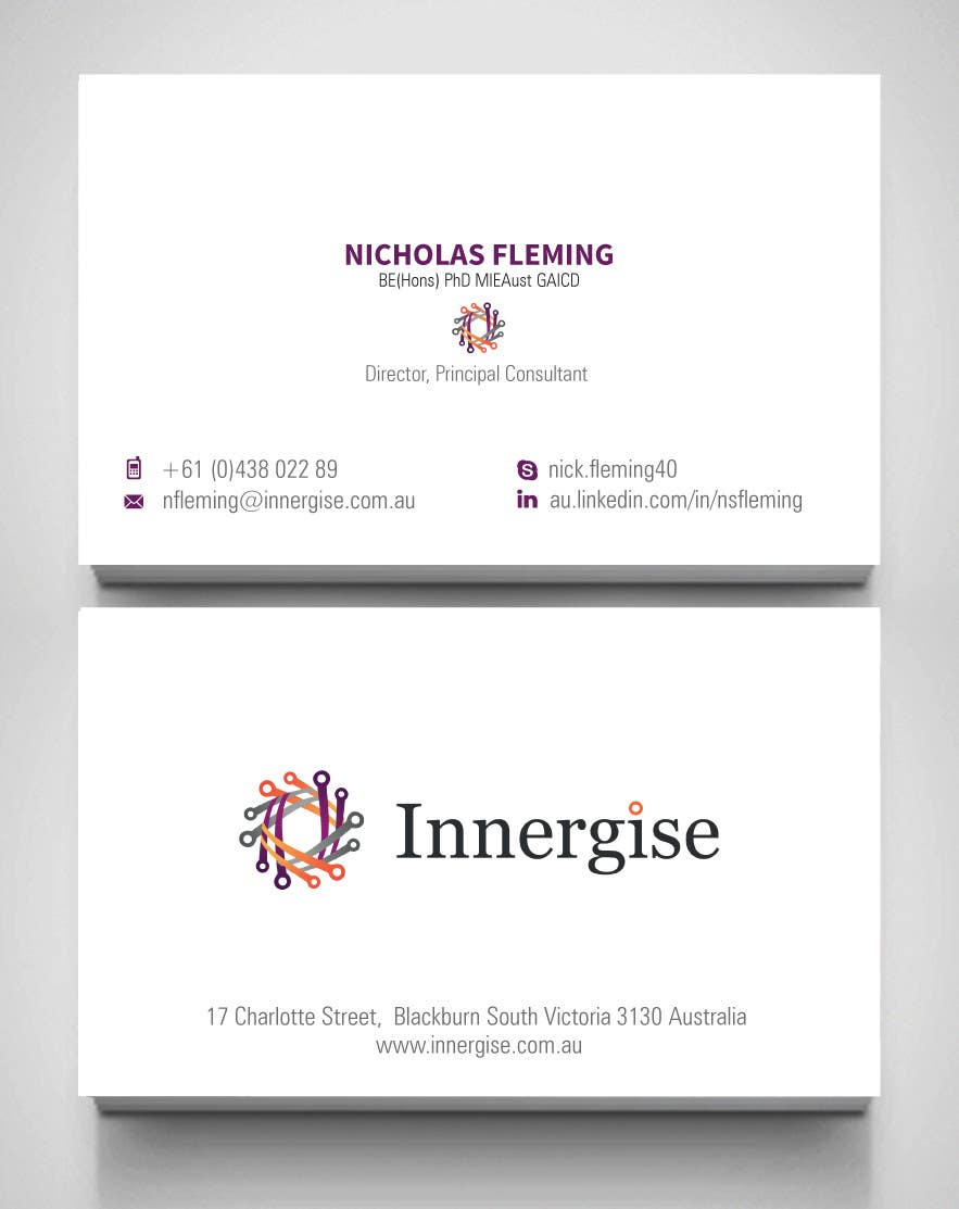 Entry 192 by toyz86 for design business cards for innergise contest entry 192 for design business cards for innergise reheart Choice Image