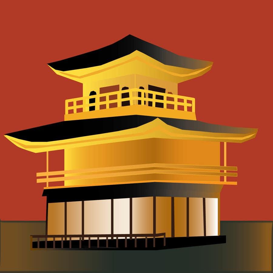 Konkurrenceindlæg #3 for Illustrate Something for Golden Pavillion Temple (Japan)