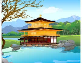 #27 para Illustrate Something for Golden Pavillion Temple (Japan) por parthamikh