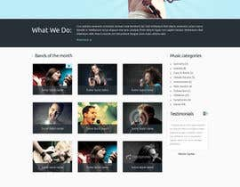 nº 25 pour Design a Website for Music Band introduction site par BillWebStudio