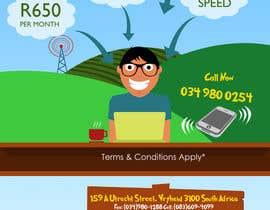 #55 untuk Design an Advertisement for Wireless Internet 2 oleh PixelCandyStudio