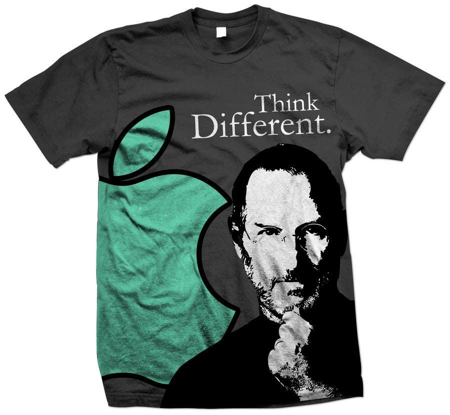 Penyertaan Peraduan #                                        36                                      untuk                                         T-shirt Design for IndoPotLuck - Steve Jobs Tribute