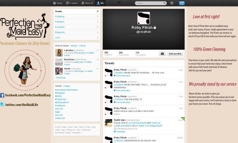 Penyertaan Peraduan #7 untuk Design a Twitter background for Company