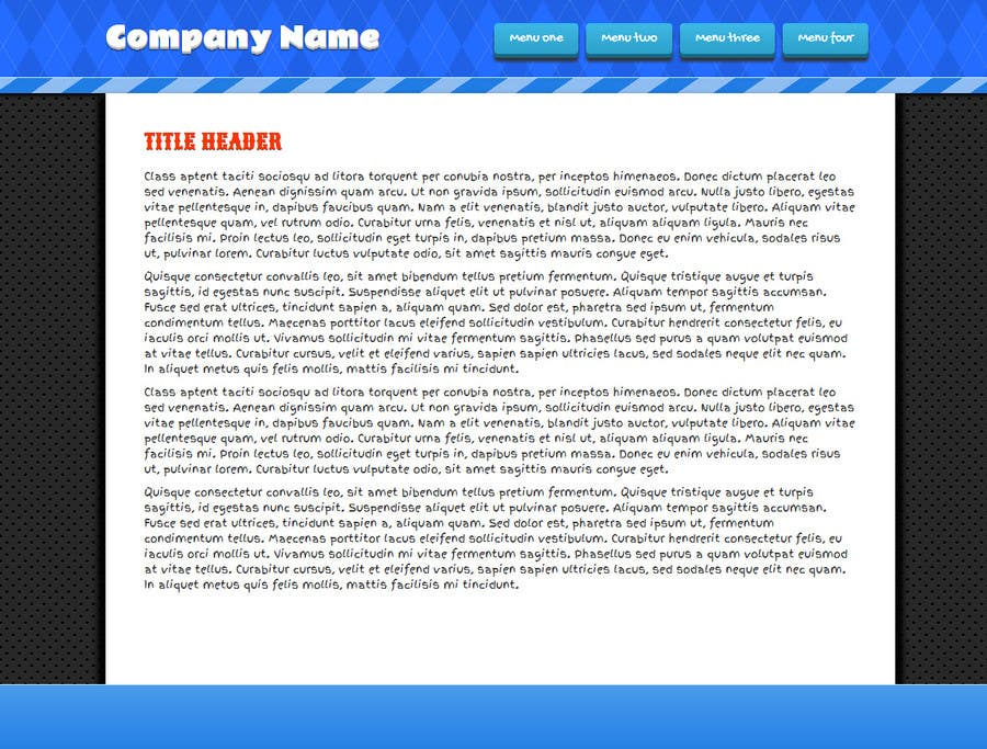 Penyertaan Peraduan #5 untuk Need nice web templates designed ONLY with Google Fonts or HTML complaint fonts