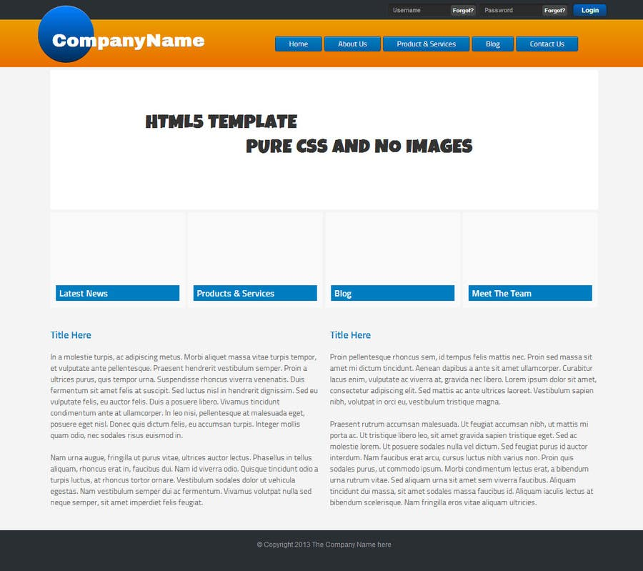 Penyertaan Peraduan #8 untuk Need nice web templates designed ONLY with Google Fonts or HTML complaint fonts