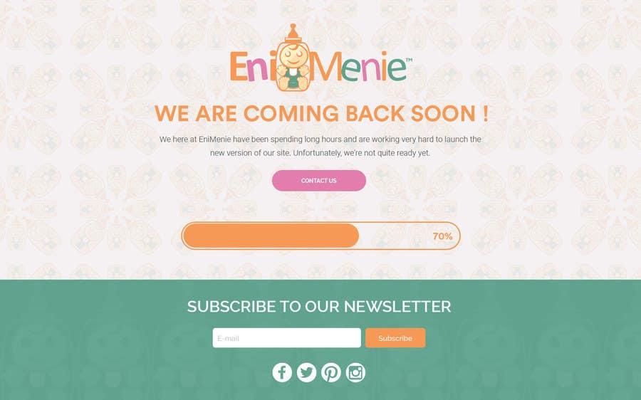 "Penyertaan Peraduan #24 untuk Build a ""Coming Soon Website"" for my Baby Producct Brand"