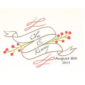 Nro 6 kilpailuun Design a Logo for wedding souvenir käyttäjältä basselattia