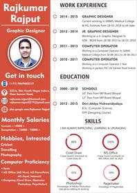 #3 for Unique Resume Design Contest af rajkumar3219